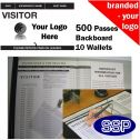 Personalised Visitor Book One Colour (500 Passes)