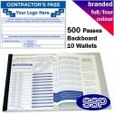 Personalised Contractor Pass Book Full Colour (500 Passes)