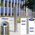 Chichester Stainless Steel Bollard (76mm x 900mm) Sub-Surface