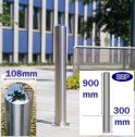 Chichester Stainless Steel Bollard (108mm x 900mm) Sub-Surface