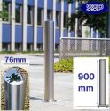 Chichester Stainless Steel Bollard (76mm x 900mm) Surface
