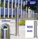 Chichester Stainless Steel Bollard (108mm x 900mm) Surface