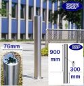 Key Locking Removable Chichester Stainless Steel Bollard (76mm x 900mm above Ground) Sub-Surface Mounted