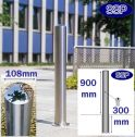 Key Locking Removable Chichester Stainless Steel Bollard (108mm x 900mm above Ground) Sub-Surface Mounted