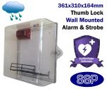 External Weather Resistant Defibrillator Defender AED Cabinet