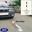 Zinc Grey Secure Drop Down Parking Post (Surface Mount)