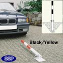 Black and Yellow Secure Drop Down Parking Post (Sub-Surface)