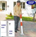 Zinc Grey Controller Drop Down Post (70mm x 1m) Sub-Surface