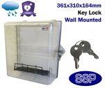Key Lockable Clear Defibrillator Cabinet