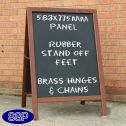 Wooden Special Offer Chalkboard Pavement Sign