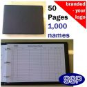 Personalised Visitor Record Book and Fire Register (VRB-01)