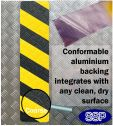 Conformable Aluminium backed Abrasive Anti-slip mat (Black/Yellow)