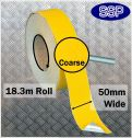 Conformable Aluminium backed Abrasive Anti-slip tape (Yellow) 50mm x 18.3m