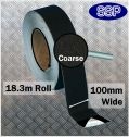 Conformable Aluminium backed Abrasive Anti-slip tape (Black) 100mm x 18.3m