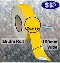 Conformable Aluminium backed Abrasive Anti-slip tape (Yellow) 100mm x 18.3m