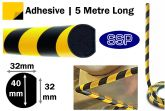 Circular Surface Impact Protection Foam (5 metres long) Sticky backed
