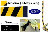 Large Rectangular Wall Impact Protection Foam (5 metres long) Sticky backed