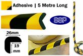 Right Angle Dense Foam Edge Protection (5 metres roll) Sticky backed