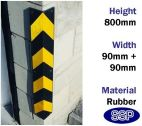 Rubber Bump and Impact Protection Corner Guard (800mm)
