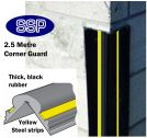 Steel and Rubber Vehicle Bump Protection Corner Guard (2.5m)