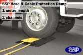 Compact Hose and Cable Protective Ramp