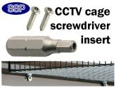 Security Screwdriver Insert For Heavy Duty Cages