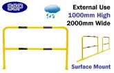 Steel Pedestrian Railings | High Visibility Walkway Guard (2metre Yellow & Black) External