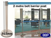 Belt Post | Retractable Belt Barrier Queue Management System (M979)