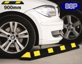 Car Parking Bay Wheel Stop Safety Guide (Black and Yellow) 0.9 metres
