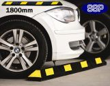 Car Parking Bay Wheel Stop Safety Guide (Black and Yellow) 1.8metres