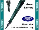 Visitor Pass Lanyards (100 pack) Green