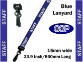Staff Visitor Pass Lanyards (100 pack) Blue