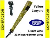Contractor Visitor Pass Lanyards (100 pack) Yellow