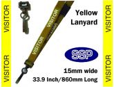 Visitor Pass Lanyards (100 pack) Yellow