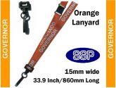 Governor Visitor Pass Lanyards (100 pack) Orange