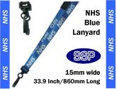 NHS Visitor Pass Lanyards (100 pack) Blue