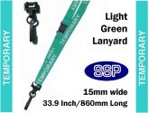 Temporary Visitor Pass Lanyards (100 pack) Light Green