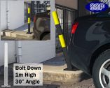 SSP Spring Loaded Barrier Post Bolt Down Yellow/Black