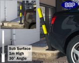 SSP Spring Loaded Barrier Post Sub Surface Yellow/Black