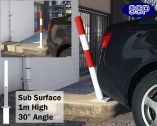 SSP Spring Loaded Barrier Post Sub Surface Red/White