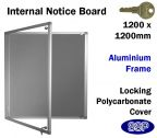 SSP School & Office Locking Notice Board 1200x1200mm