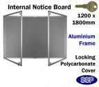 SSP Extra Large Locking Polycarbonate Front Pin Board 1200x1800mm