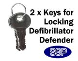 2 extra keys for locking Defibrillator Defender