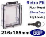 Secure Emergency Shut off Button Cover | Locking Keypad Cover (Key Lock) K530V