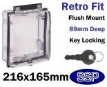 Secure Emergency Shut off Button Cover | Locking Keypad Cover (Key Lock) K530V