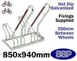 Security Multi-Slot Bicycle Rack (2 slot)