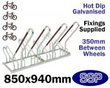 Security Multi-Slot Bicycle Rack (4 slot)