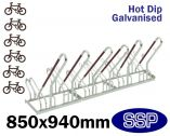 Security Multi-Slot Bicycle Rack (6 slot)