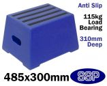 Blue Safety Step | Portable Horse Mounting Block (One Step)