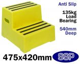 Yellow Non-Slip Safety Steps Portable Mounting Steps (Two Step)
